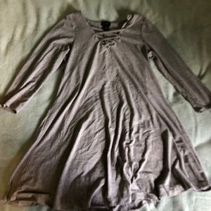 Small mid length gray dress